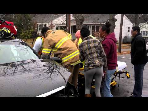 Winston Salem Fire Department, Team Work, Car Rescue and Recovery