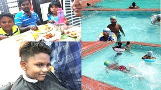 #DIML/Kids Summer Activities/Swimming/Lucky New Hair Cut/Zomato Food Order/Multi tasking work Vlog