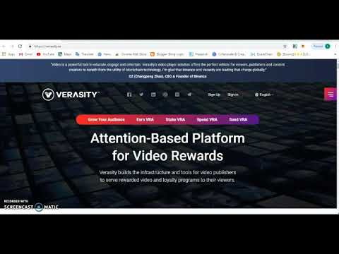 Verasity  A Rewarding Blockchain Video Platform