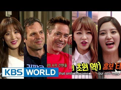 Entertainment Weekly  연예가중계  Robert Downey Jr, Mark Ruffalo, SooHyun, EXID 2015.05.01