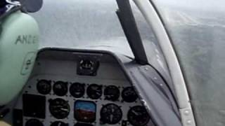 p 51 mustang on final approach to engm cockpit view