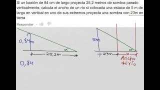 Como calcular una distancia usando semejanza de triángulos