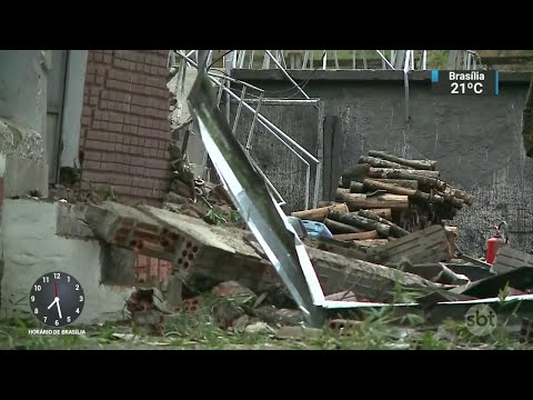 Explosão em frigorífico deixa dois mortos no interior do RS | SBT Brasil (16/07/18)