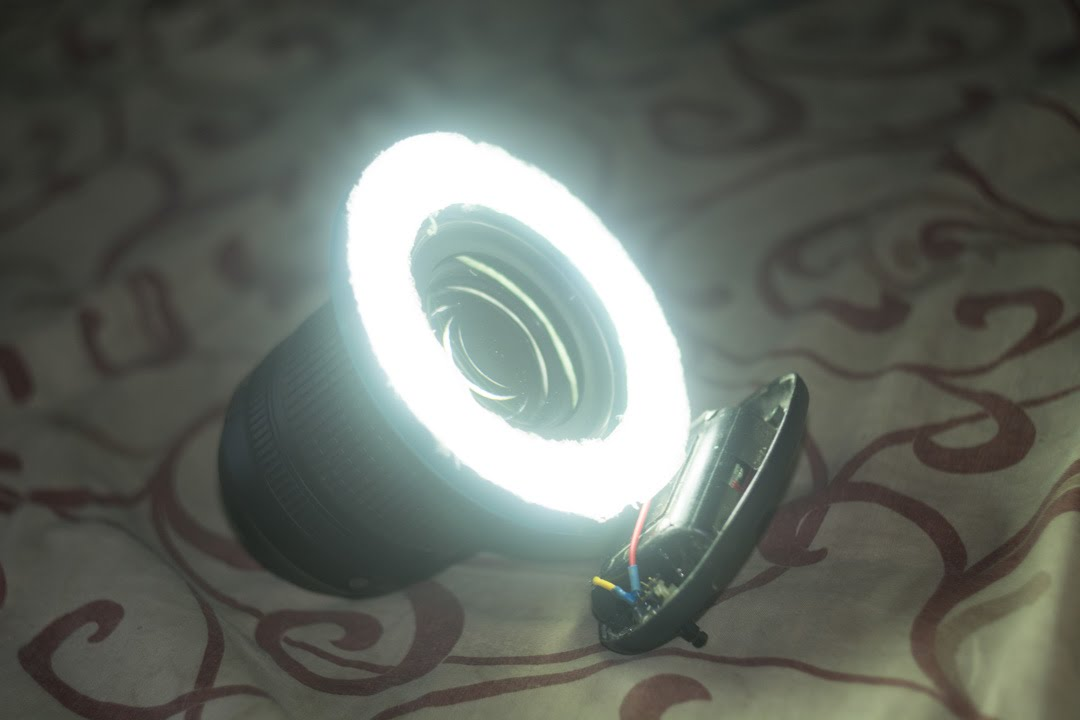 Светодиодный кольцевой осветитель своими руками