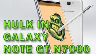 Galaxy Note GT-N7000 Hulk Pintado en Snote _ Mierdinsky