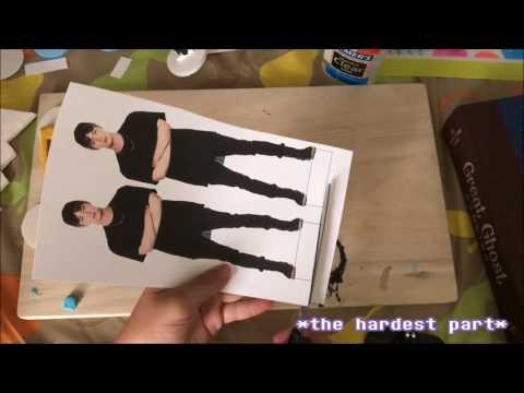 DIY BTS Festa Mini Paper Standee