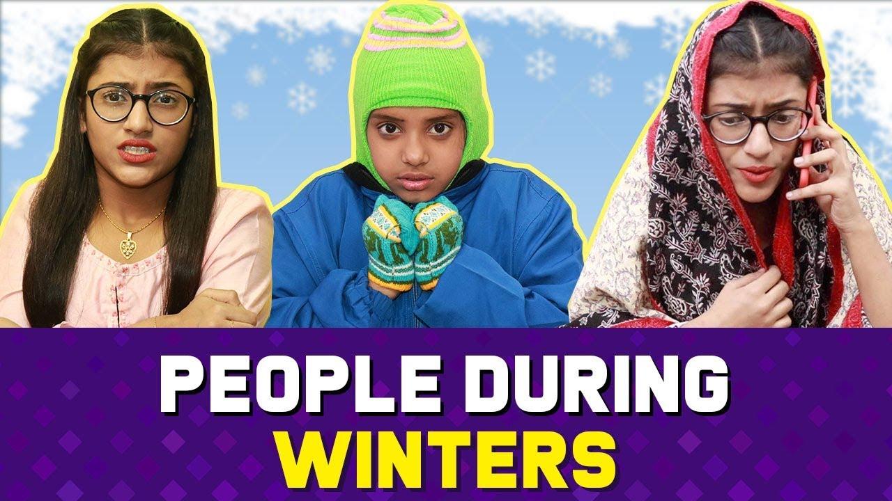 People During Winters : Girls Vs. Boys | SAMREEN ALI