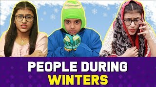 People During Winters : Girls Vs. Boys | SAMREEN ALI