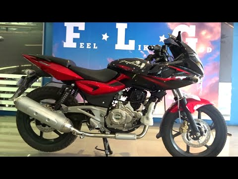 BikesDinos Bajaj Pulsar 220F DTSi Review Exhaust Note Walkaround Red And Black Colours