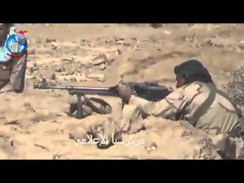 """فيديو: معارك عنيفة على أسوار معسكر فرضة """"نهم"""" شرق العاصمة صنعاء"""
