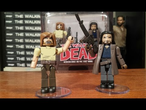 The Walking Dead Minimates Series 7 Mayor Rick Grimes And Paul