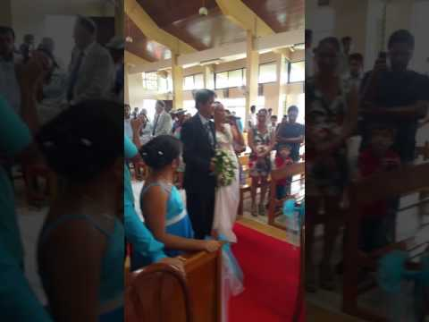 Mariage de Teahi et Ahiata : La marche nuptiale