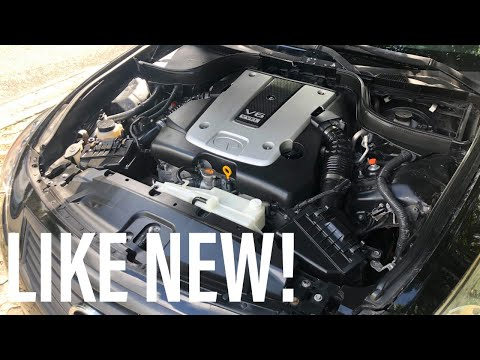 Cleaning the G37 Engine Bay!