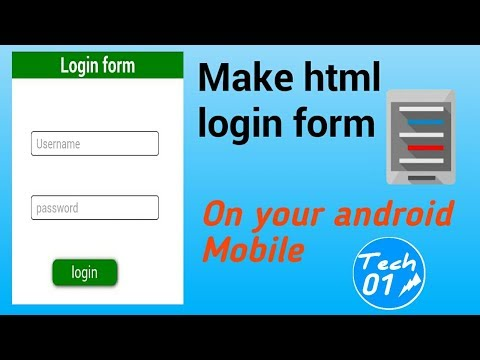 How To Make A Login Form Html/css - On Your Android Mobile With Source Code