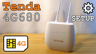 Tenda 4G680 Router 4G Unboxing installation configuration and test