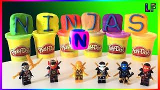 Lego NInjago - Playdoh surprises Golden Lloyd Cole Kai Jay Zane Nya