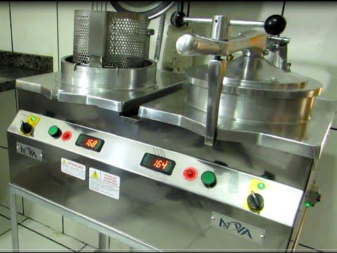Freidora a presi n de pollo industrial receta de pollo for Freidora industrial