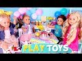 American Girl Doll Slumber Party w/ Kitchen Toys! Baby Dolls baking cupcakes ! 🎀
