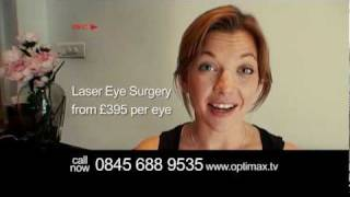 UK's 1st Laser Eye Surgery TV ad filmed by a patient (Optimax)