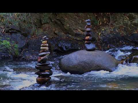 S1 Ep7- Zen Jungle River | Sleep, relax, meditation Tinnitus Relief | Rock Balancing|