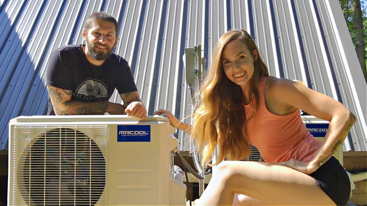 Installing AIR CONDITIONING In Our Off-Grid Home!