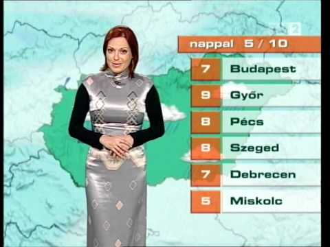 Weather Woman in Satin Dress