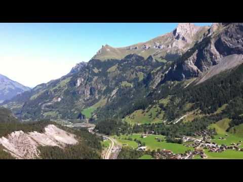 Paragliding over Kandersteg, Switzerland