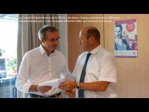 Le malouin Xavier Champs succède au redonnais Pierrick Collet, à la présidence de la FFB d Ille-et Vilaine