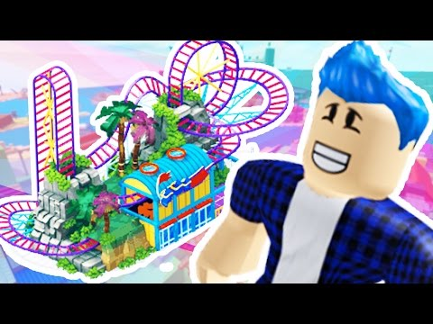 ROBLOX - ROLLER COASTER TYCOON - HOW TO MAKE AN AMUSEMENT PARK IN ROBLOX
