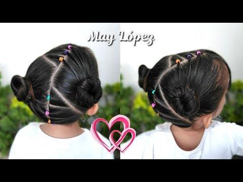 Peinado Para Ninas Con Ligas Multicolor Peinados Faciles Y Rapidos
