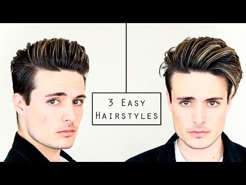 3 Easy Mens Hairstyles | No Heat Hair Tutorial – Healthy Hair 2016