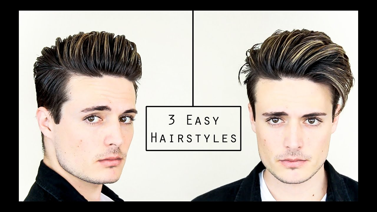 3 Easy Mens Hairstyles No Heat Hair Tutorial Healthy