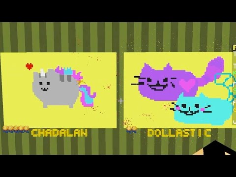 Minecraft  Pixel Painters  Pusheen and Bumble Bee Cat  Gamer Chad Plays