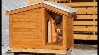 Домик для собаки с крыльцом. Цена 8.200руб.   (Бытовки бани в СПб_