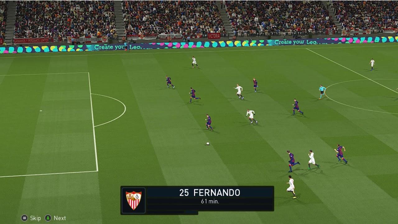 Play Pes | Sevilla vs Bacelona  [ highlight ] 20/06/200