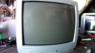Veja que defeito incrivel neste tv que depois de vazar alta, ficou com imagem sega