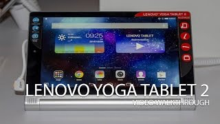 Lenovo Yoga Tablet 2 video walkthrough(After the launch a couple of weeks ago in London, we've got the new Lenovo Yoga Tablet 2 in for review and a chance to take a proper look at it. Be sure to ..., 2014-10-22T11:11:27.000Z)