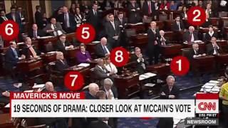 Senator John McCain votes down Republican Obamacare repeal bill
