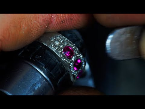 ♻️ Bespoke Ruby Ring Making► New From Old Jewellery