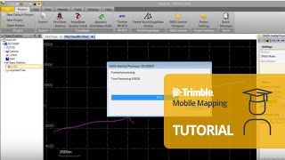 This video shows how to process a trimble mx7 trajectory in pospac, against physical gnss reference station