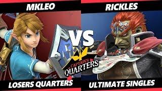 Captain's Quarters Losers Quarters - T1 | MkLeo (Link) Vs. HPT | Rickles (Ganondorf) SSBU Singles