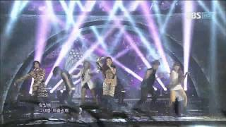 2NE1 [Intro + I Love You] @SBS Inkigayo Popular song 20120708