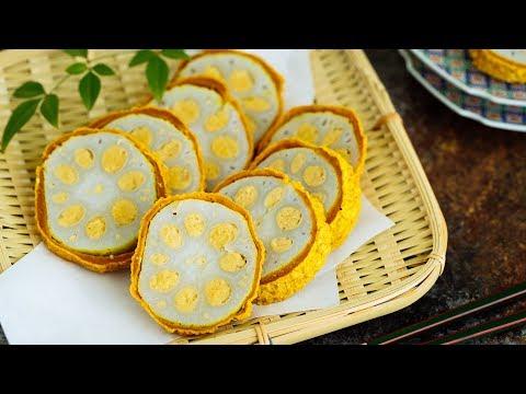 KARASHI RENKON (Lotus Root with Japanese Hot Mustard) - REGIONAL food from KUMAMOTO, JAPAN 辛子蓮根の作り方