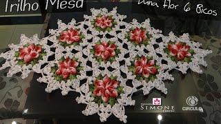Passo a passo Trilho/Caminho Mesa Croche Flor 6 Bicos - Professora Simone thumbnail