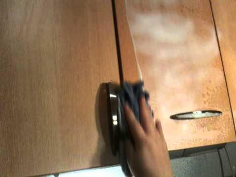 Fett von Küchenschränken abwischen - Fettfreie Küche - YouTube