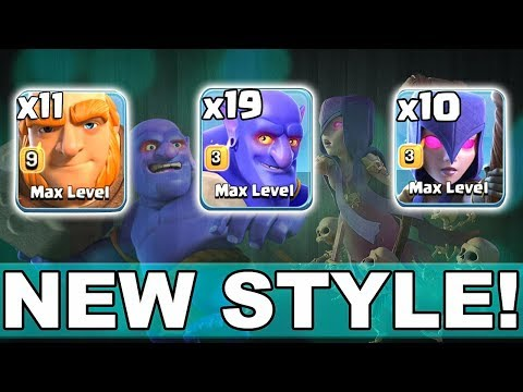 19 Max Bowler + 10 Max Witch + 11 Max Giant | New Army Style 3 Star Th12 Max | New Th12 War Style
