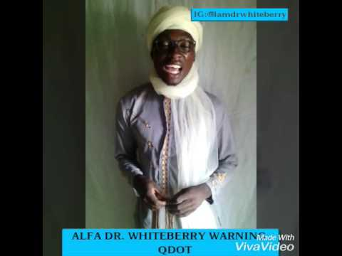 Dr. Whiteberry reply Qdot Alhaji