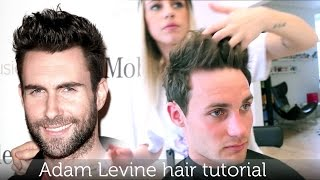 Adam Levine hair tutorial known from Maroon 5 - how to style like a rockstar