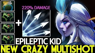 EPILEPTIC KID [Drow Ranger] New Crazy Multishot Full Agility Build 7.23 Dota 2