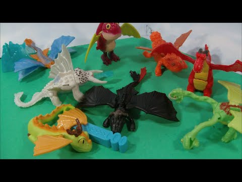 Inported How To Train Your Dragon 2 Mcdonalds Happy Meal Play Set From 2014 And Dreamworks Youtube